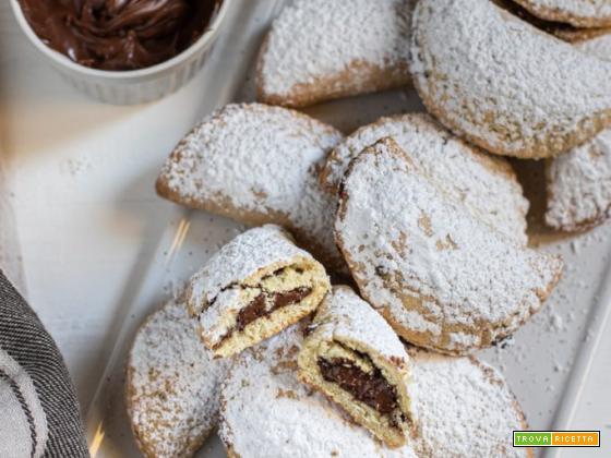 Ravioli dolci di Carnevale alla nutella: al forno
