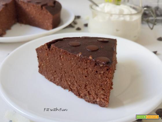 Torta Brownie Ricotta Cocco Cacao Proteica e Senza Glutine