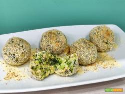Polpette al forno di broccoli e salmone