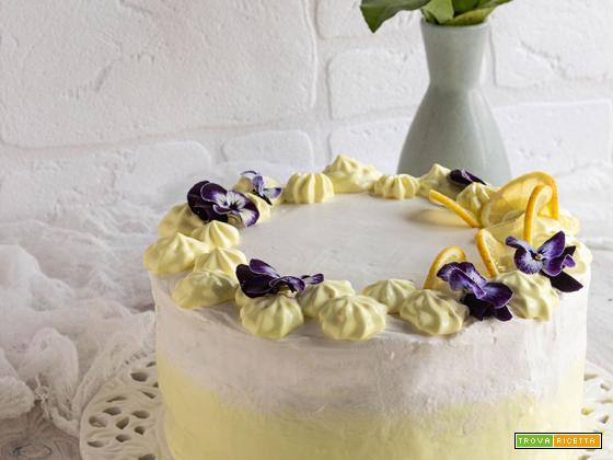 Torta al limone, soffice e delicata