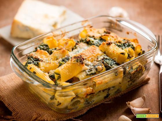 Pasta gratinata agli spinaci, una pasta al forno squisita