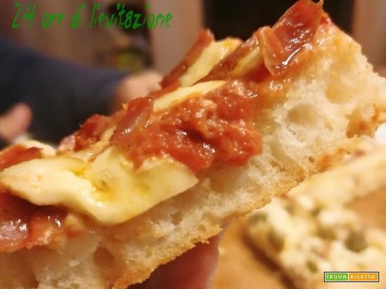 Pizza in teglia senza glutine 24 ore
