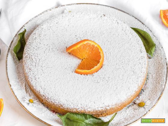 Torta soffice all'arancia senza uova