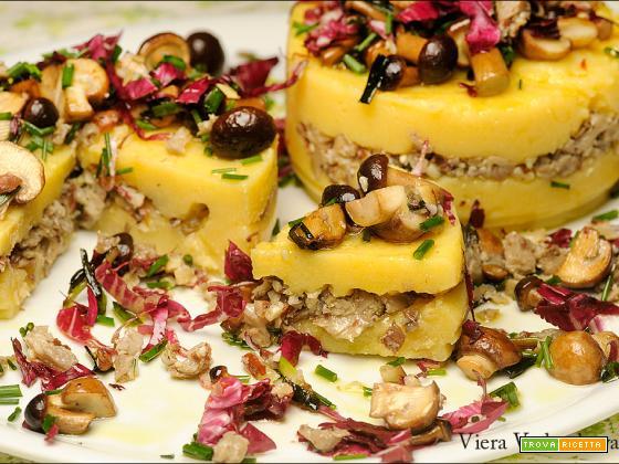 Tortini di polenta con mix di funghi senza glutine