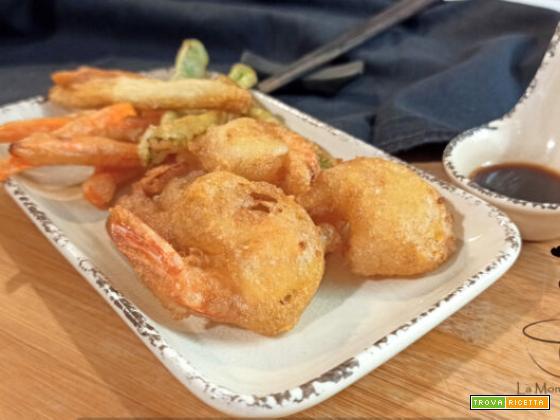 Gamberi e verdure  in tempura senza glutine