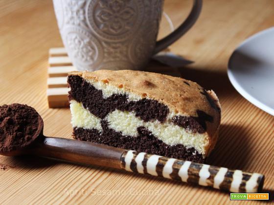 Torta variegata (vaniglia - cacao) senza glutine