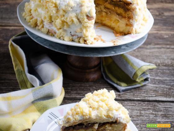 Torta mimosa con crema al caffè
