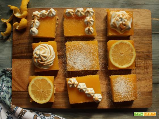 Lemon bars: quadrotti morbidi al lemon curd
