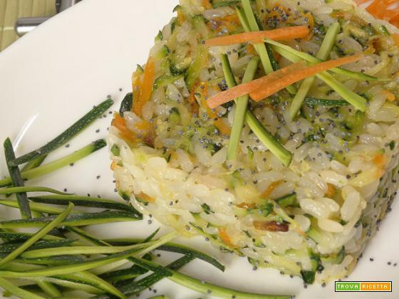 Riso con zucchine e carote
