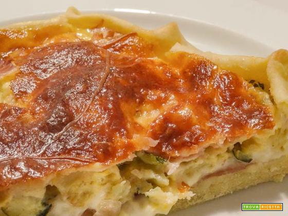 Rustico di pasta matta con zucchine