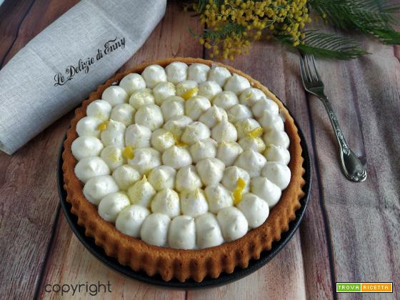Crostata morbida con crema al limone