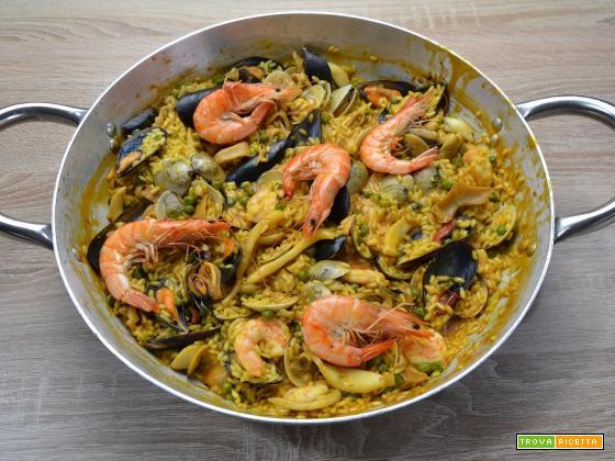 Ricetta – Paella ai frutti di mare