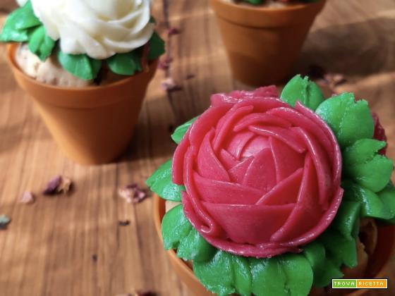 Muffin in petali