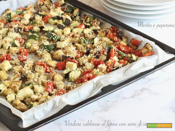 Verdure sabbiose al forno con semi di sesamo