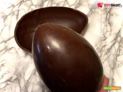 Uovo di Pasqua fatto in casa al cioccolato fondente