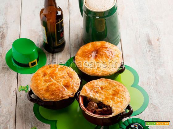 Torta di manzo alla birra scura, una specialità irish
