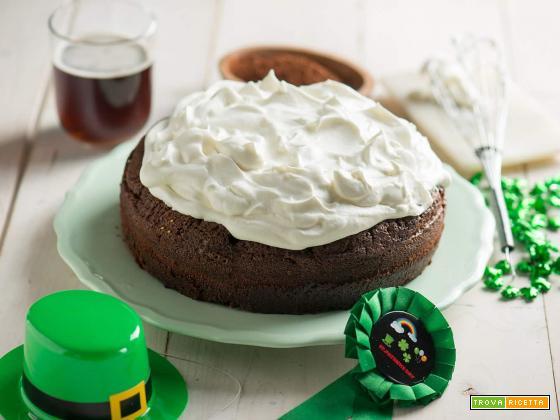 Torta Guinness al cioccolato per Saint Patrick's Day