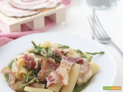 Rigatoni asparagi e pancetta