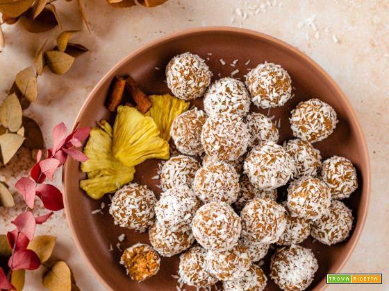 Energy Balls alle Carote | Vegan Carrot Cake Bites