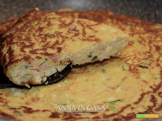 Tortino in padella senza glutine e senza uova