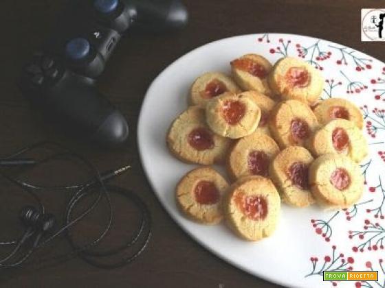 Biscotti che si credono crostatine in friggitrice ad aria per la festa del papà