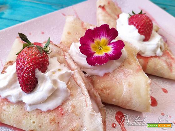 Crepes panna e fragole