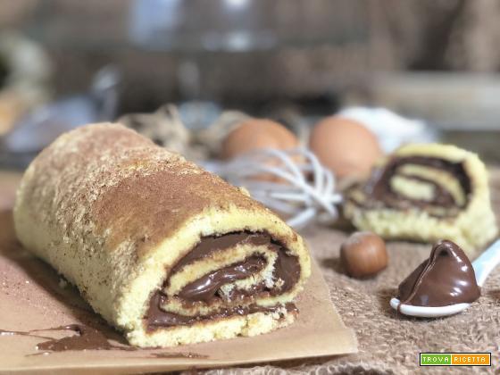 ROTOLO alla NUTELLA dolce facile e veloce