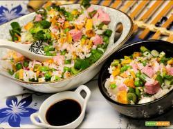 Risotto alla Cantonese vegano e senza glutine