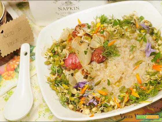 Congee primaverile di riso integrale tondo