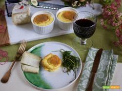 Mini soufflé al pecorino al tartufo