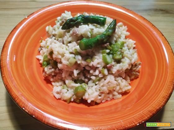 Risotto salsiccia e asparagi