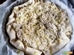 TORTA SALATA CON CREMA DI CARCIOFI
