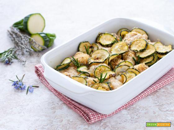 Rana pescatrice con zucchine sabbiose al forno