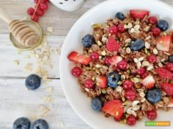 Porridge ai frutti rossi e miele