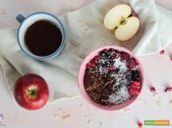 Porridge all'avena con cioccolato