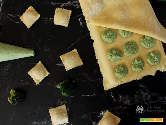 Ravioli burrata e broccoletti