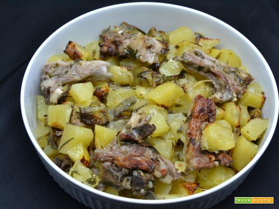 Ricetta – Costolette d'agnello con patate e carciofi