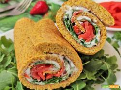 Rotolo in Padella Salmone e Rucola Proteico Senza Glutine Low Carb
