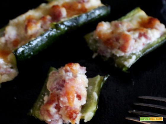 Barchette di zucchine al forno