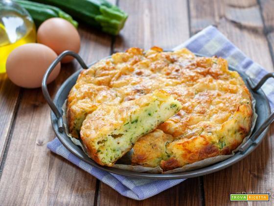 Torta salata di zucchine e provola