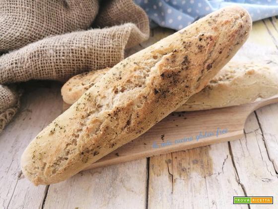 Filoncini di pane senza glutine all'origano