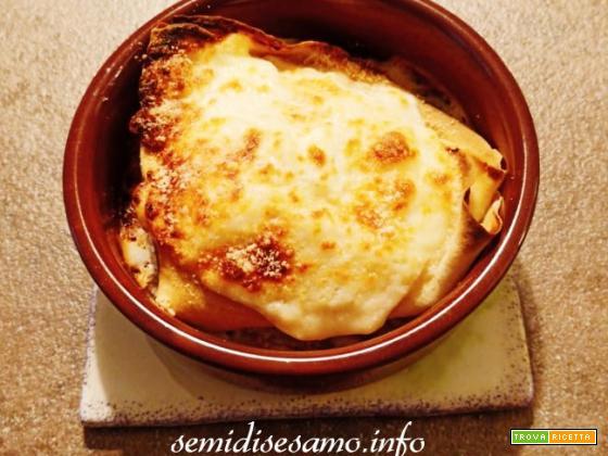 Crespelle prosciutto e formaggio, crepe al forno