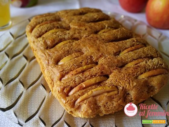 Torte di mele grattugiate con farina di mandorle senza burro