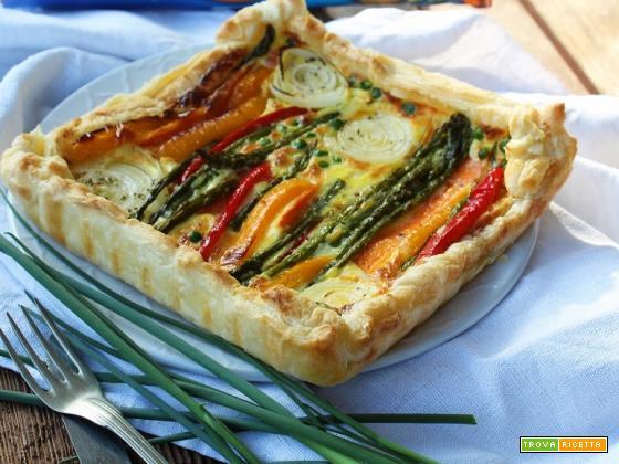 Torta salata con stracchino e verdure