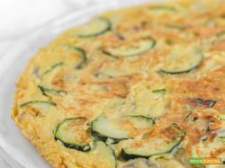 Frittata di zucchine senza uova (frittata vegana)