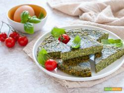 Frittata con ricotta e spinaci