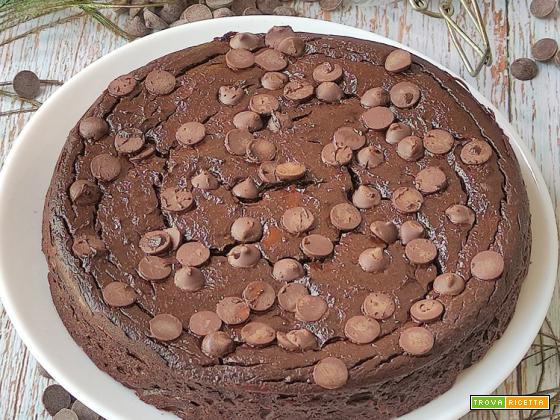 Torta Ricotta e Cioccolato Senza Farina 4 Ingredienti