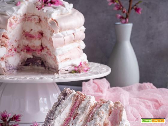 Pink ombre pavlova , una meravigliosa nuvola rosa