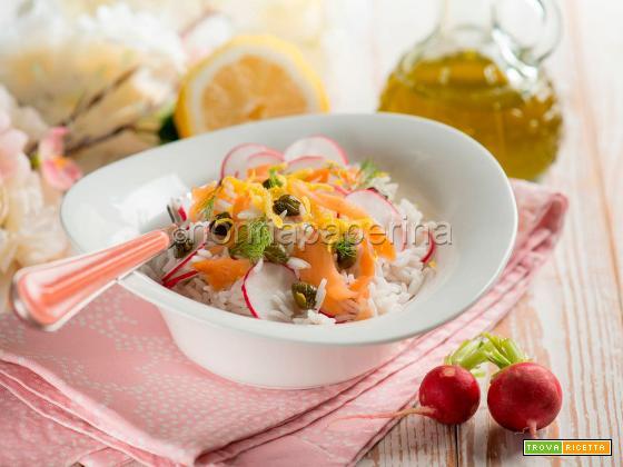 Insalata di riso Basmati e pesce, un primo delicato