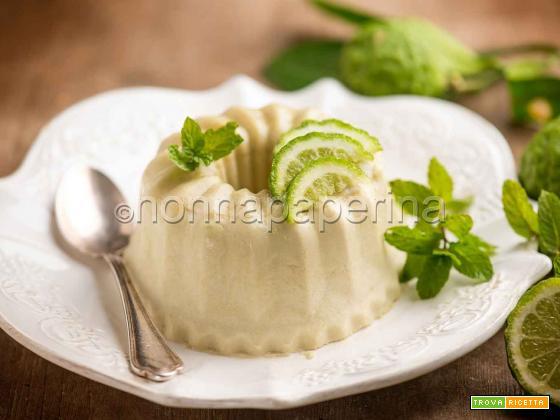 Semifreddo con papeda e menta, un dessert agrumato
